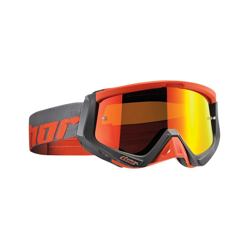 Óculos Thor Sniper Warship Charcoal / Orange | Lente Mirror Red + Lente Clear