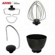 Conjunto de Batedor com Bacia Para Batedeira Planetária Arno 4 peças