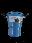 Cuscuzeira Esmaltada Metallouça Azul Claro 16