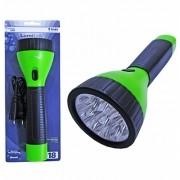 Lanterna Recarregável Bivolt Verde c/ 9 Leds