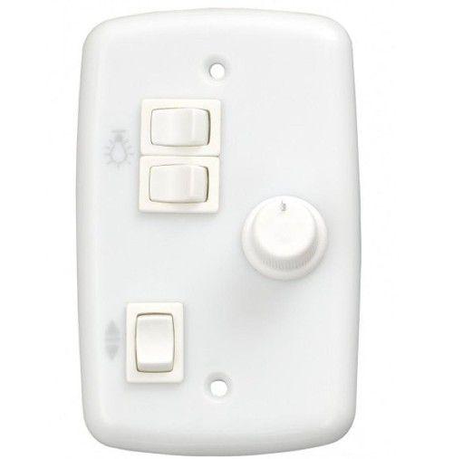 Chave Controle p/ Ventilador Rotativa 2 Lâmpadas Bivolt