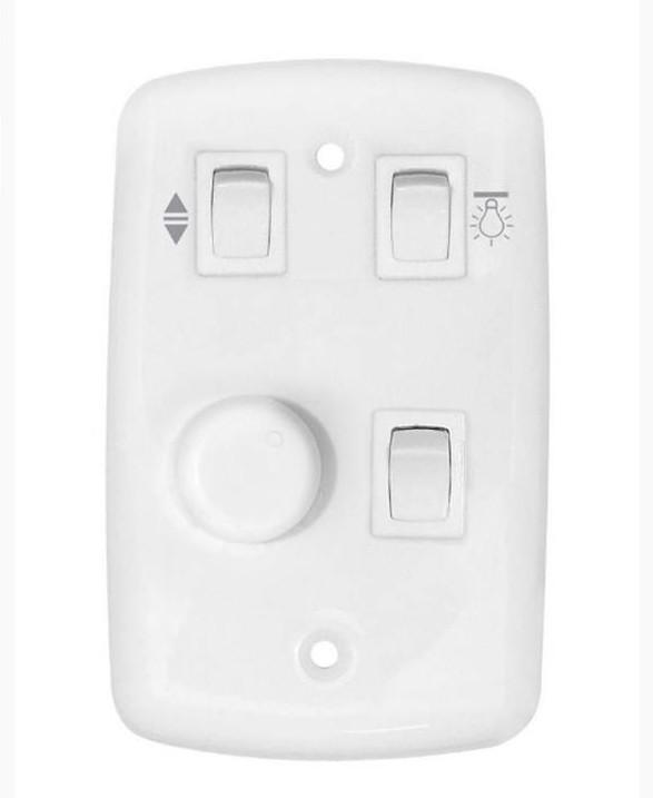 Chave Controle Para Ventilador Rotativa 2 Lâmpadas Bivolt