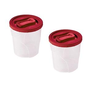 Conjunto Porta Mantimentos Clic Rosca - 2 Peças  Vermelho