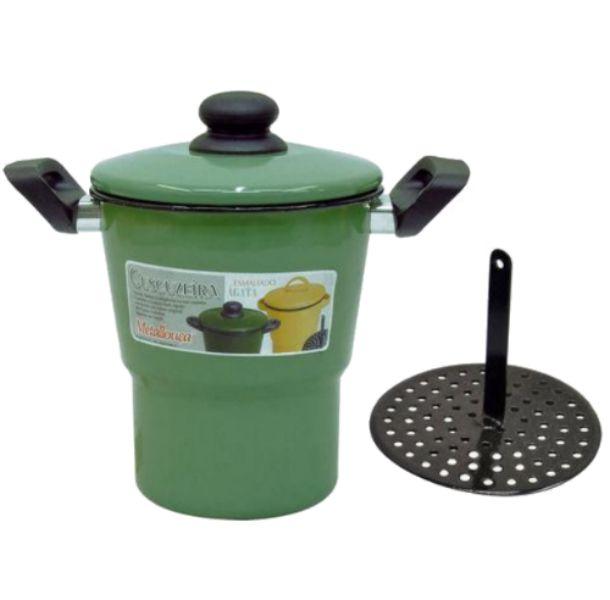 Cuscuzeira Esmaltada Metalouça Verde