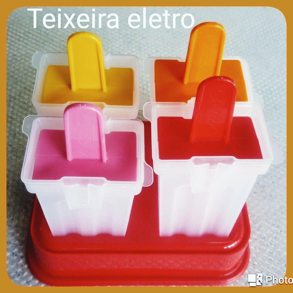 Forma de Plástico para Paletas Recheadas 4 Unidades