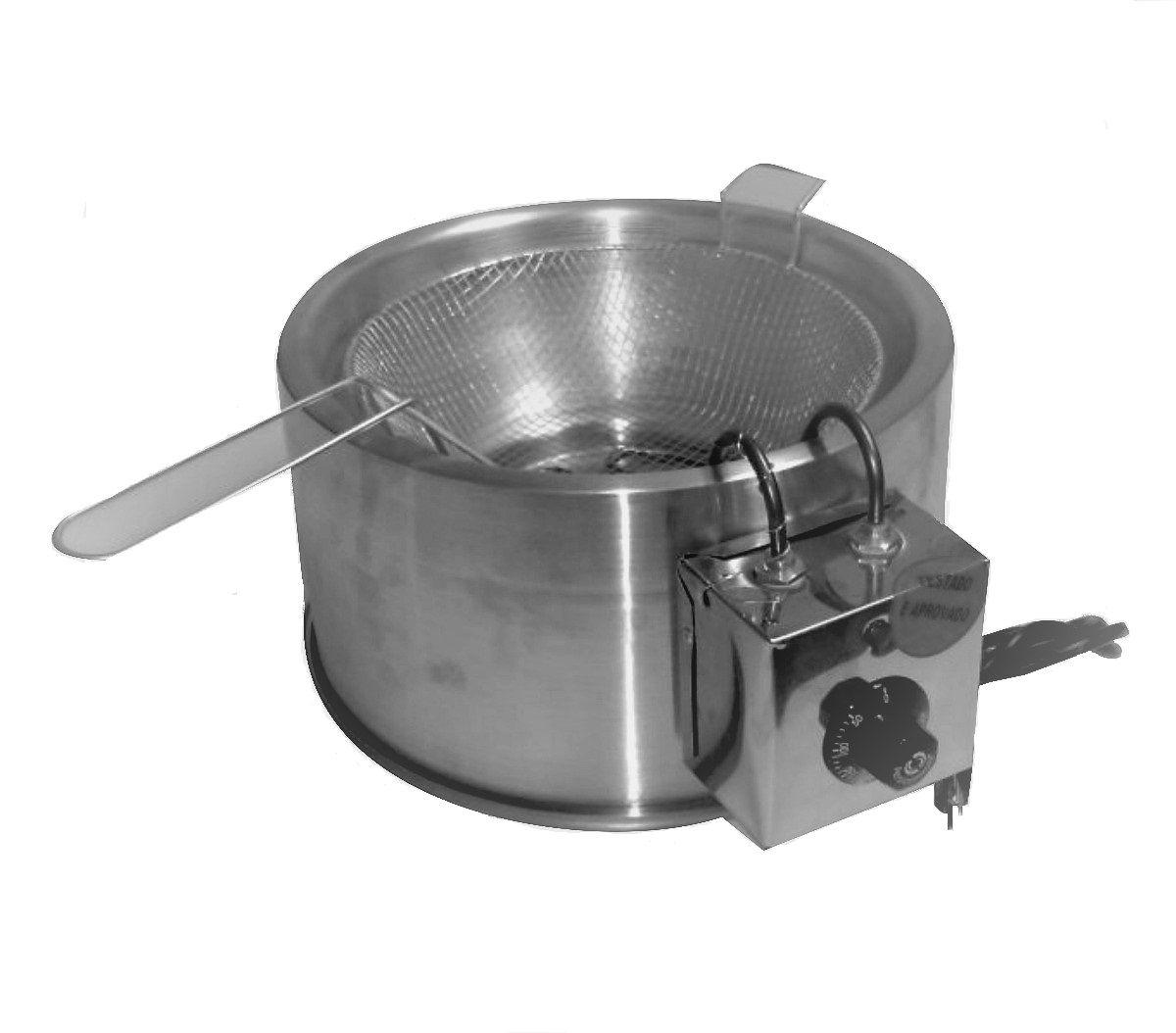 Fritadeira Elétrica Industrial  De Alumínio  5 litros 110v