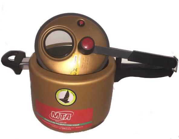 Panela De Pressão Gold Fi 4,5 Litros com Visor MTA