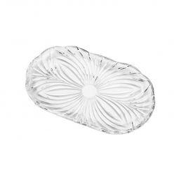 Bandeja oval 24 cm de cristal transparente Diamond Lyor - L67044