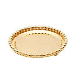 Bandeja redonda 13 cm de zamac dourado Balls Lyor - L3757