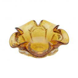 Centro de mesa 22 cm de vidro âmbar Italy Lyor - L4146