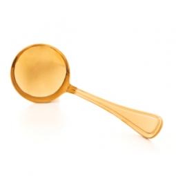 Concha para molho de aço inox Avalon Dourado Wolff - 71723