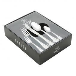 Faqueiro 30 peças de aço inox Prateado com Gift Box Avalon Wolff - 71415