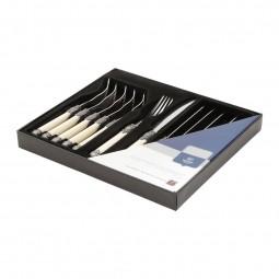 Jogo 12 peças de talher para churrasco de metal e polipropileno marfim Madras Wolff - 3991