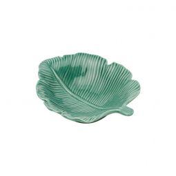 Folha decorativa 14,5 x 12 cm de porcelana verde Pachira Prestige - 26874