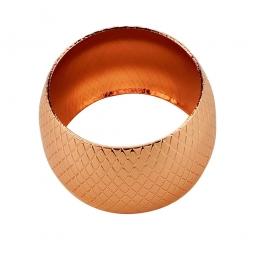 Jogo 4 anéis para guardanapo de metal rosé gold Prestige - 60734