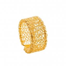 Jogo 4 anéis para guardanapo de zinco dourado Prestige - 61406
