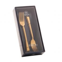 Jogo 6 peças garfo para sobremesa de aço inox  Berna Dourado Wolff - 71728