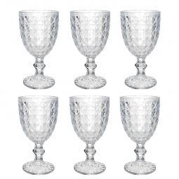 Jogo 6 taças 220ml para água de vidro transparente Roman Bon Gourmet - 35455