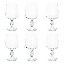 Jogo 6 taças 340ml para água de cristal ecológico transparente Klaudie/Sterna Bohemia - 5443