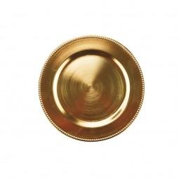 Sousplat sobremesa 25 cm de plástico dourado Rojemac - 61140