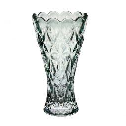 Vaso decorativo 25 cm de cristal verde Angel Wolff - 28079