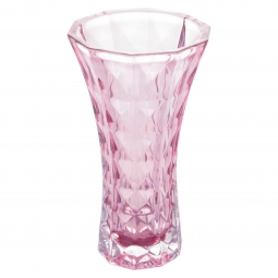 Vaso decorativo 26 cm de cristal ametista  Diamant Wolff - 27705