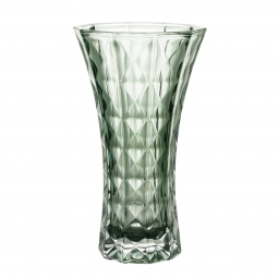Vaso decorativo 26 cm de cristal verde Diamant Wolff - 27703
