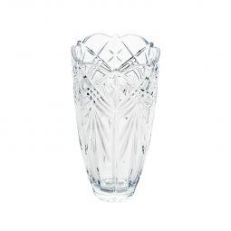 Vaso decorativo 30 cm de cristal transparente Taurus Bojudo Bohemia - 5515