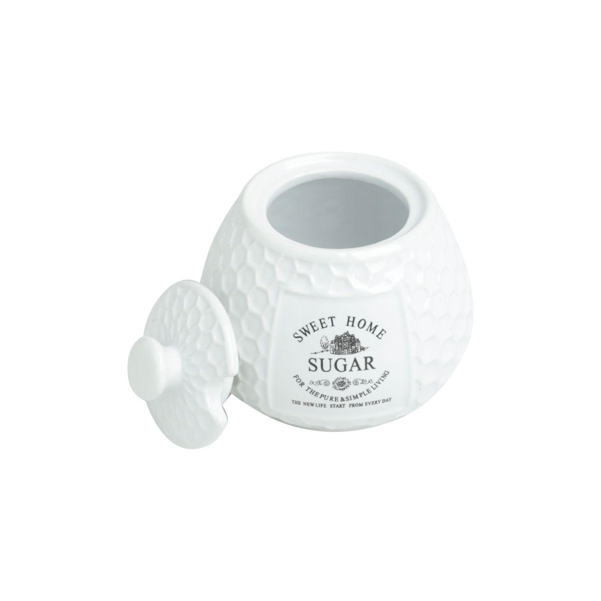 Açucareiro 300ml de porcelana branca Sweet Home Bon Gourmet - 27450