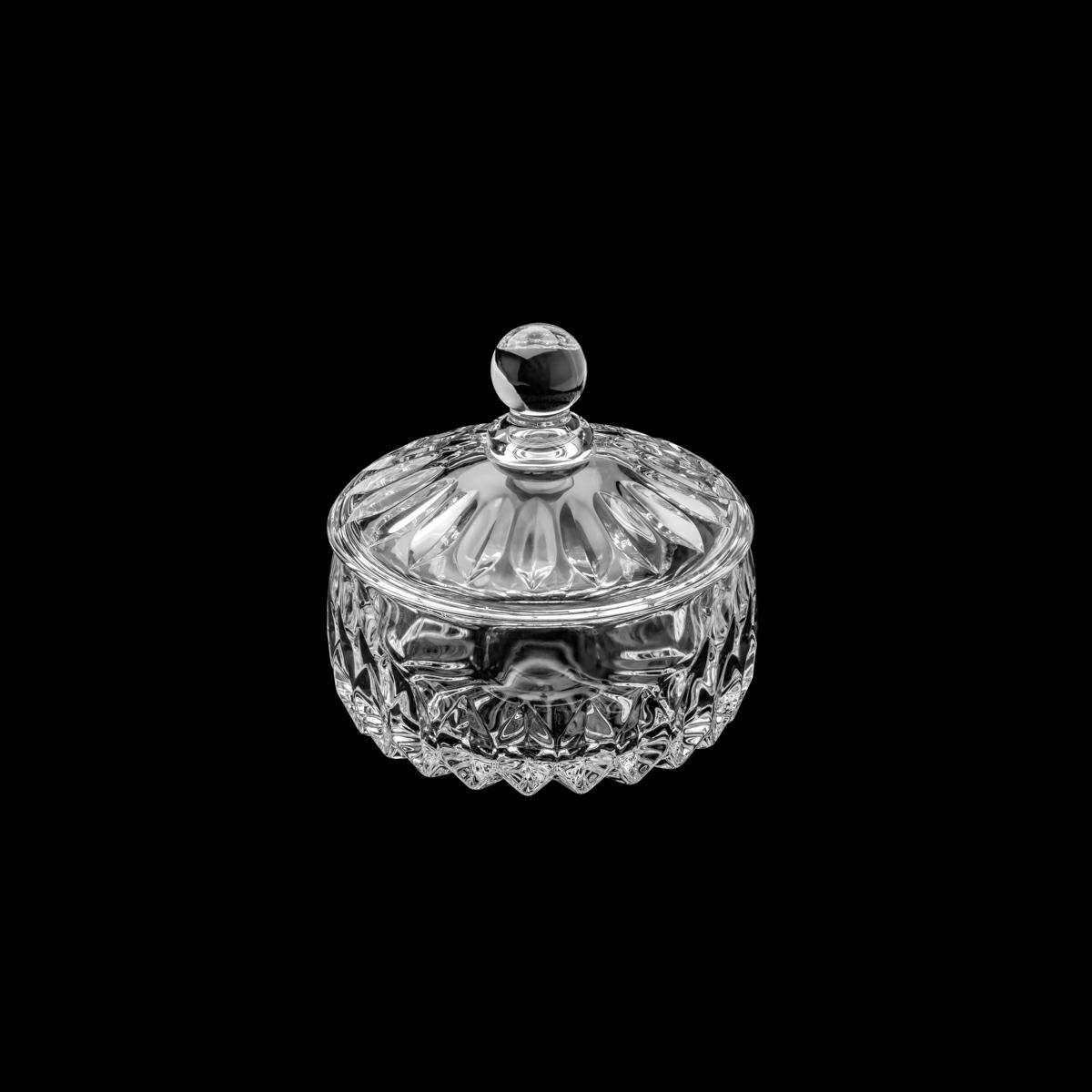 Bomboniere 14 cm de cristal transparente com tampa Louise Wolff - 35199