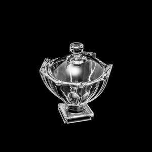 Bomboniere 12 cm de cristal transparente com tampa e pé Stage Wolff - 26478