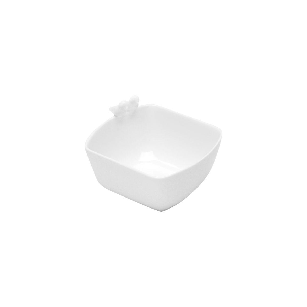 Bowl 12 x 10 cm de porcelana branca Birds Wolff - 17302