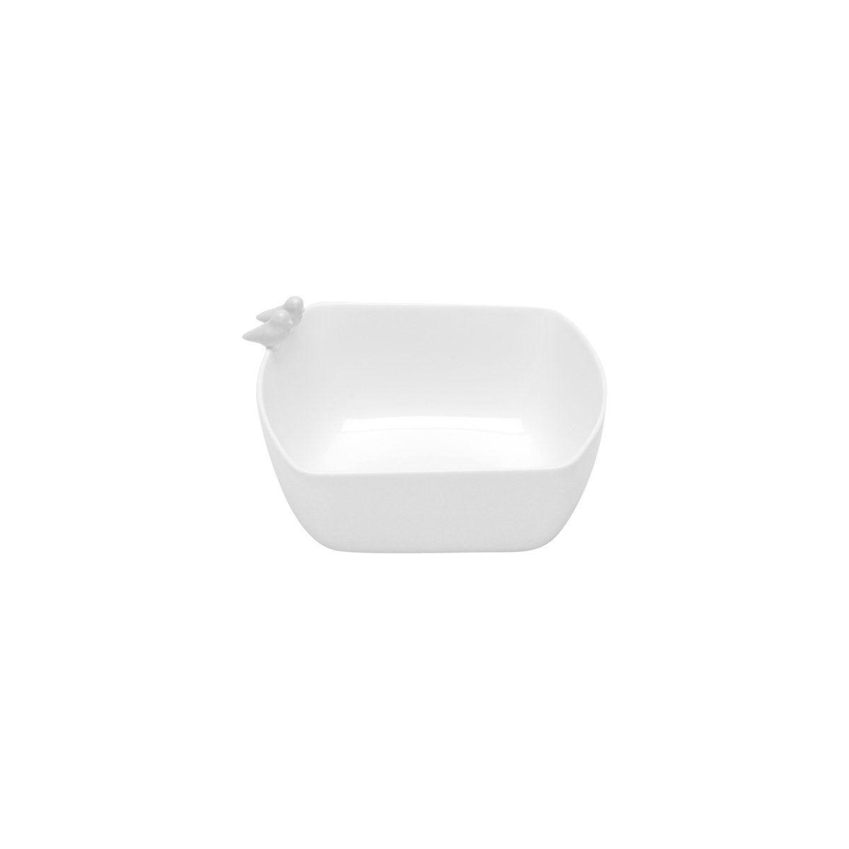 Bowl 16 x 15 cm de porcelana branca Birds Wolff - 17303