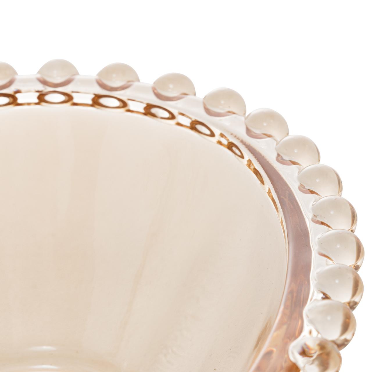 Bowl 18 cm de cristal âmbar coração Pearl Wolff - 28399