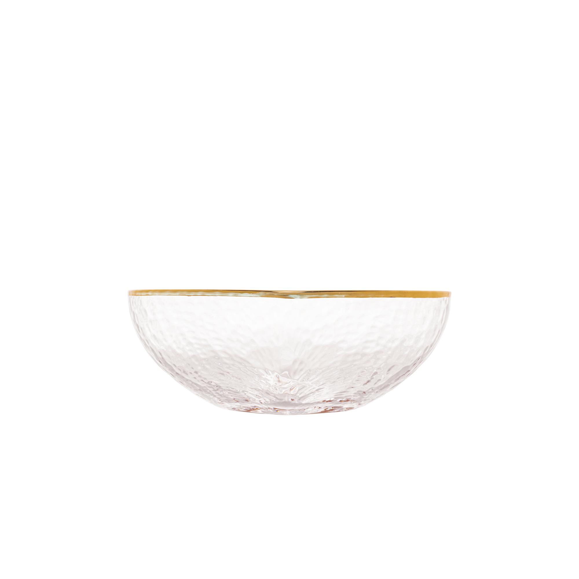 Bowl 9 cm de vidro cm borda Dourada Heart  Bon Gourmet- 28345