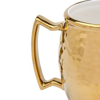 Caneca 430ml para Moscow Mule de porcelana dourado Vera Wolff- 17455
