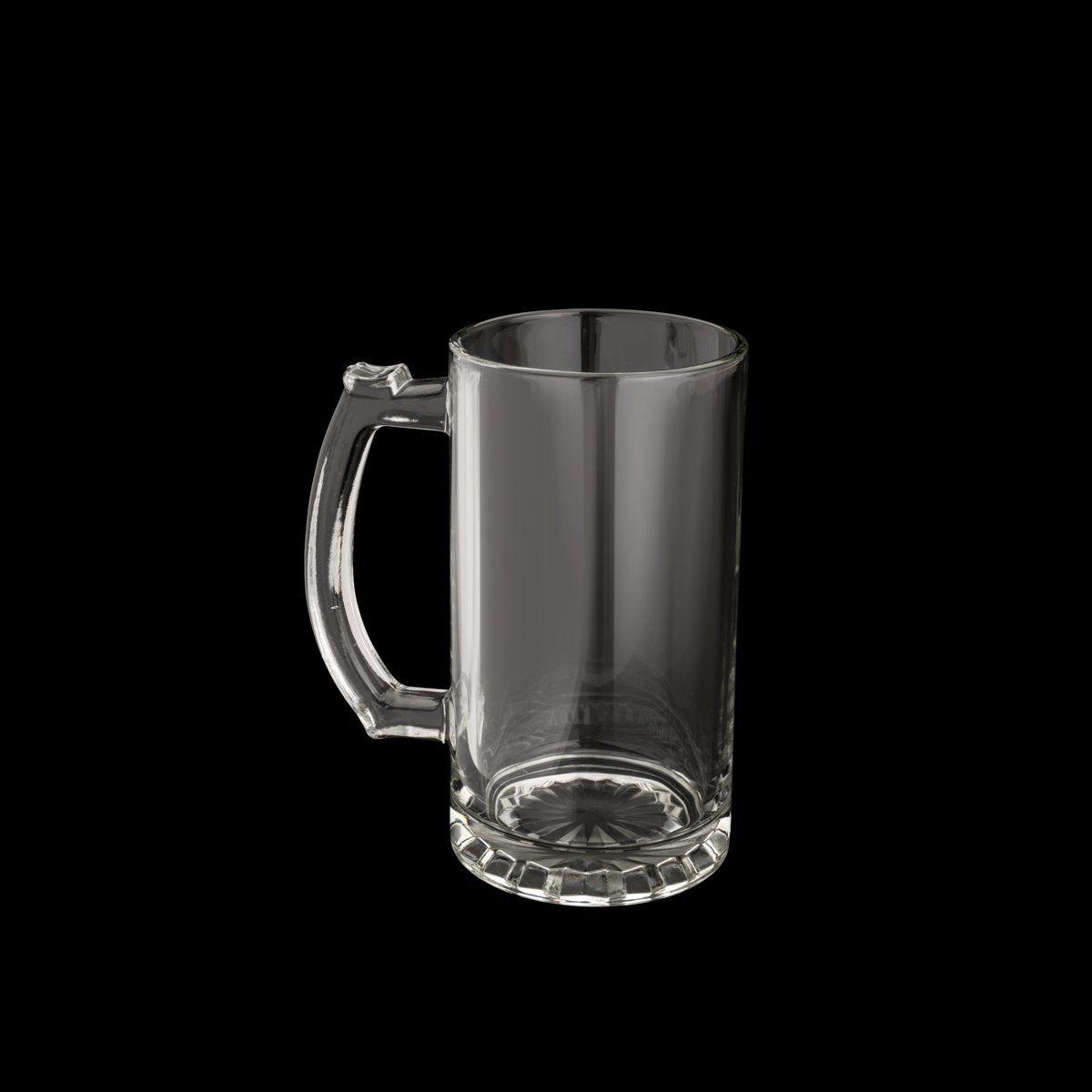 Caneca 450ml para chopp e cerveja de vidro transparente com alça Germany Lyor - L7041