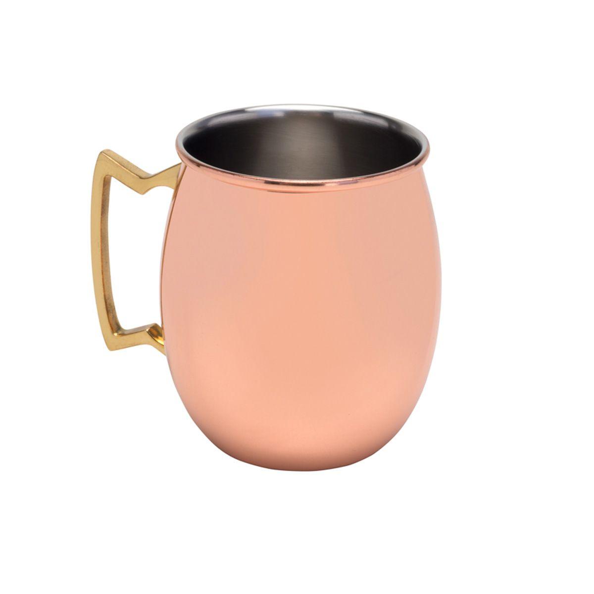 Caneca 550ml para Moscow Mule de aço inox cobre rosé gold Delhi Royal - 27319