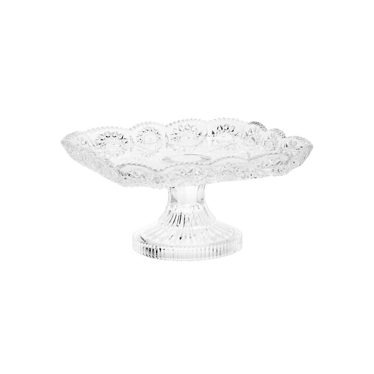 Centro de mesa 17,5 cm de cristal transparente com pé Starry Wolff - 25621