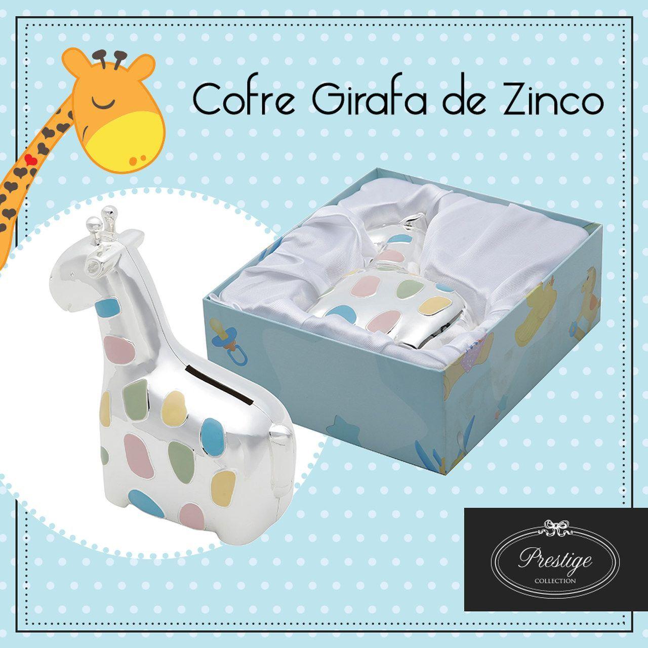 Cofre Girafa 15 cm de zamac prateado Prestige - 2957