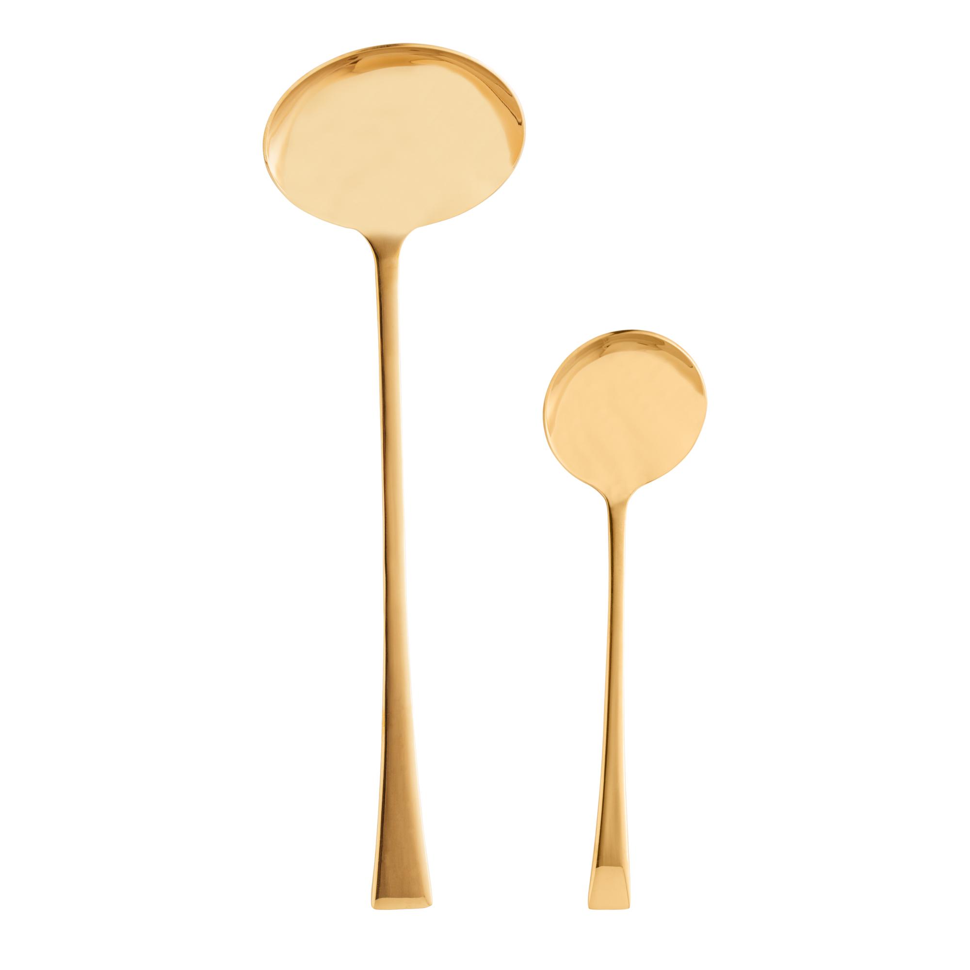 Conjunto 2 Conchas para servir de aço inox Berna dourado Wolff - 71701