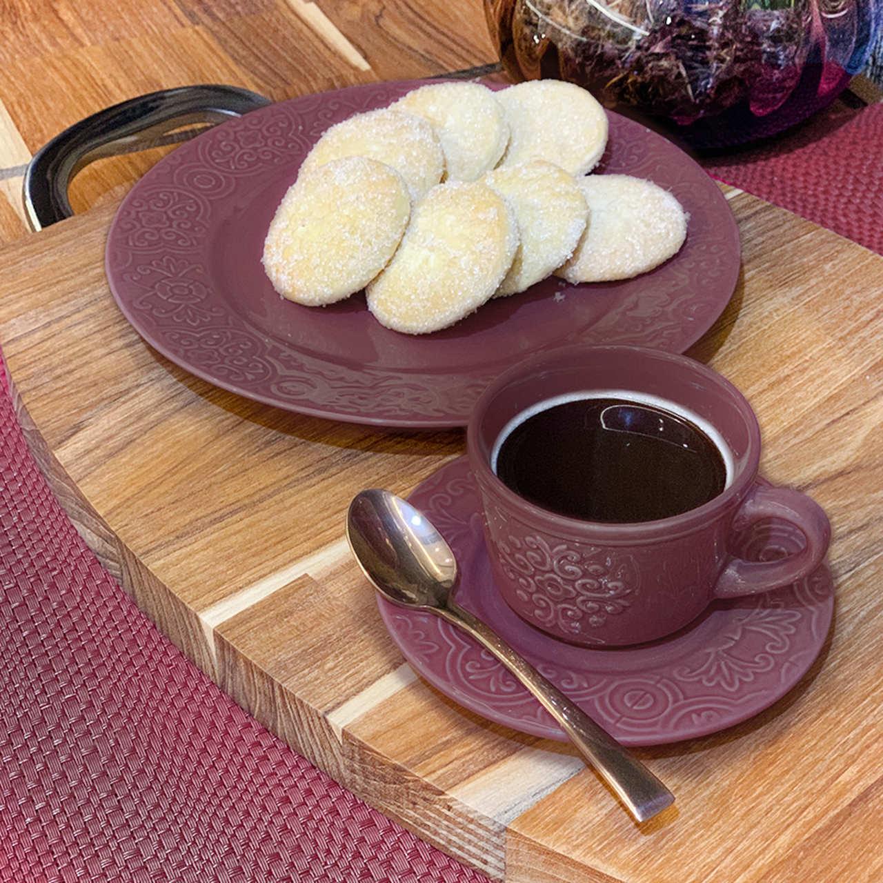 Conjunto 6 Colheres para café de aço inox Berna Rose Wolff - 71529