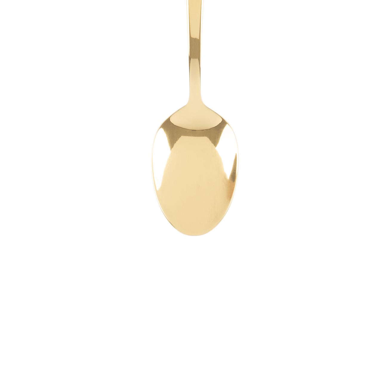 Jogo 6 Colheres para chá de aço inox Pisa  Dourado Wolff - 71543