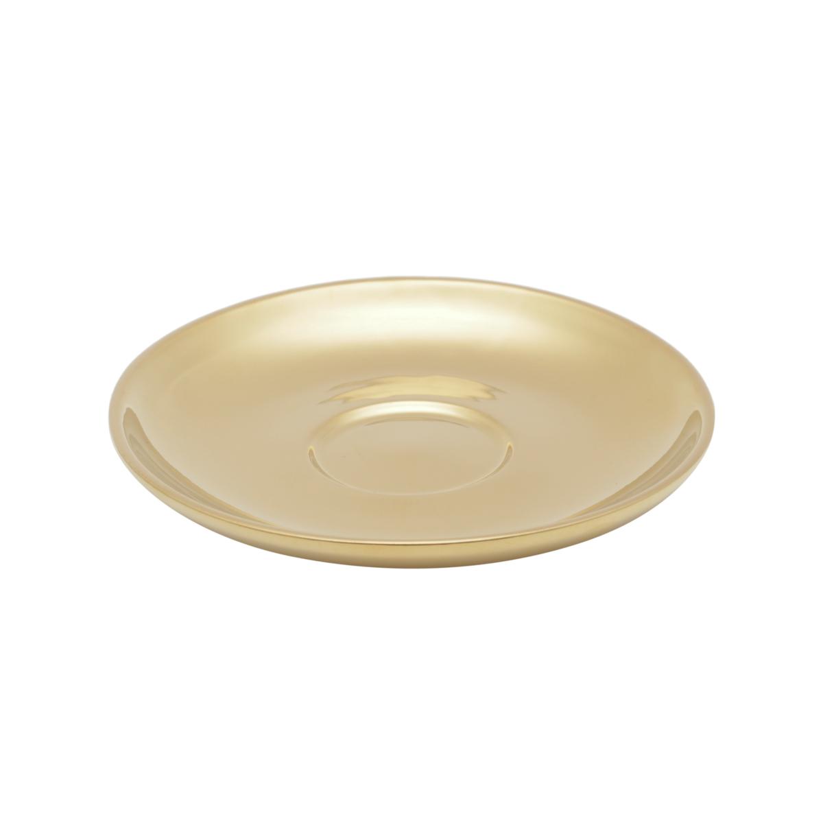Conjunto 6 xícaras 90 ml para café de porcelana preto/dourado com pires Versa  Wolff - 35525