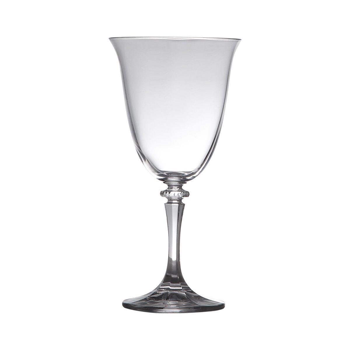Jogo 6 taças 360ml para água de vidro transparente Kleopatra Bohemia - 5233