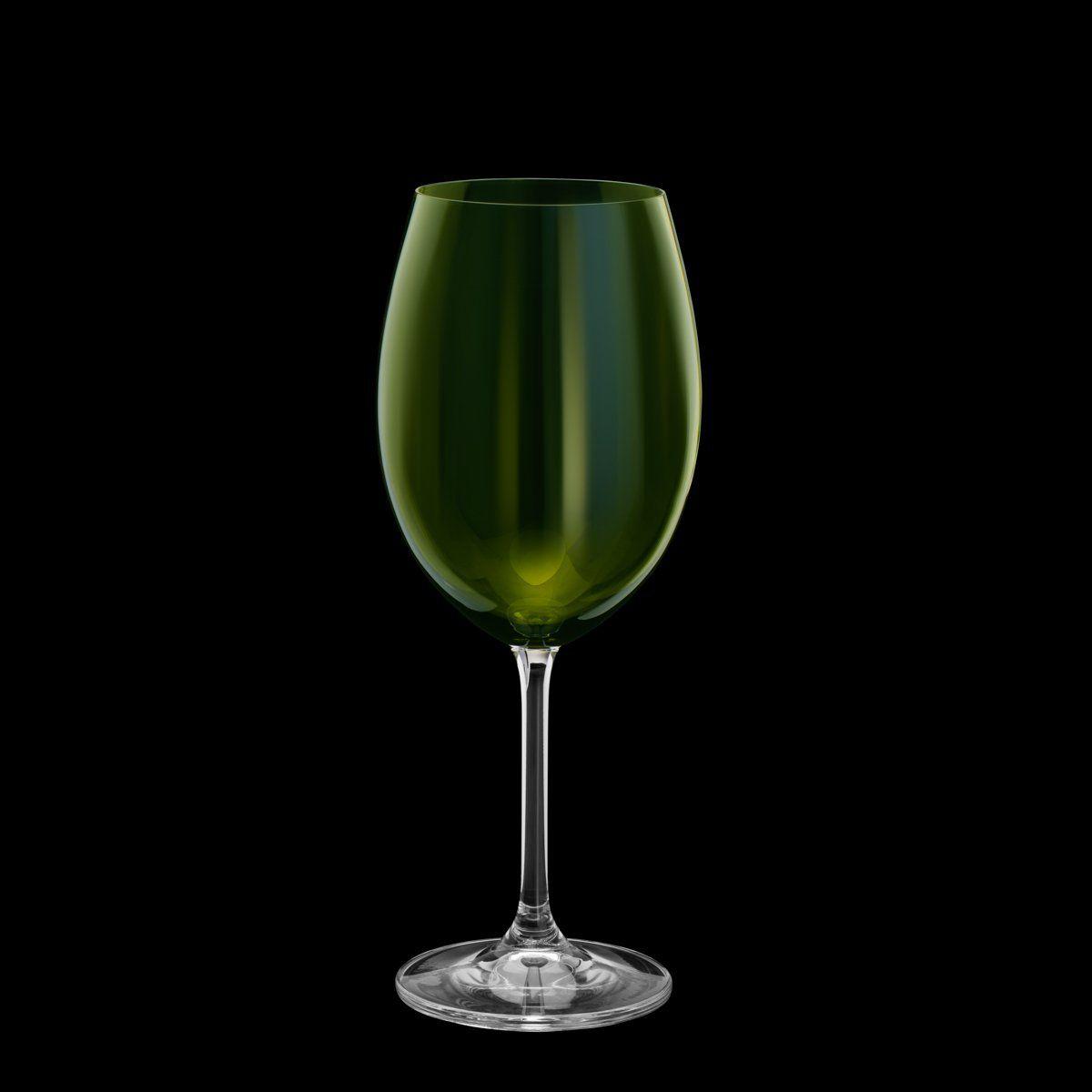 Jogo 6 taças 580ml para água de cristal ecológico verde Gastro/Colibri Bohemia - 35042