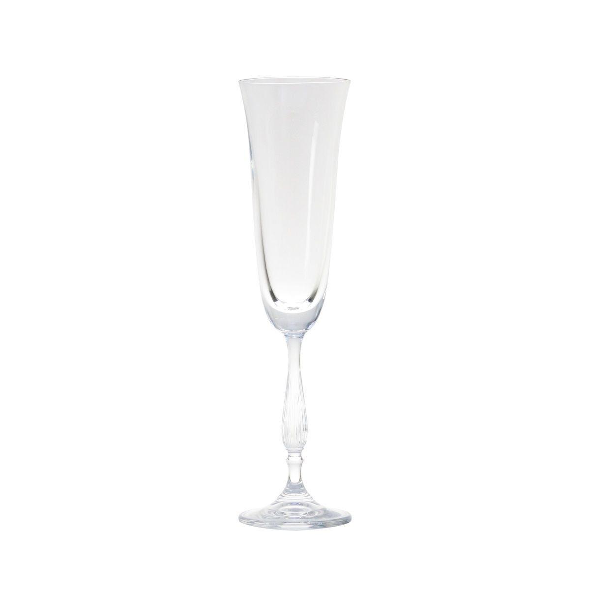 Jogo 6 taças 190ml para champagne de cristal ecológico com titânio Antik/Fregata Bohemia - L5531