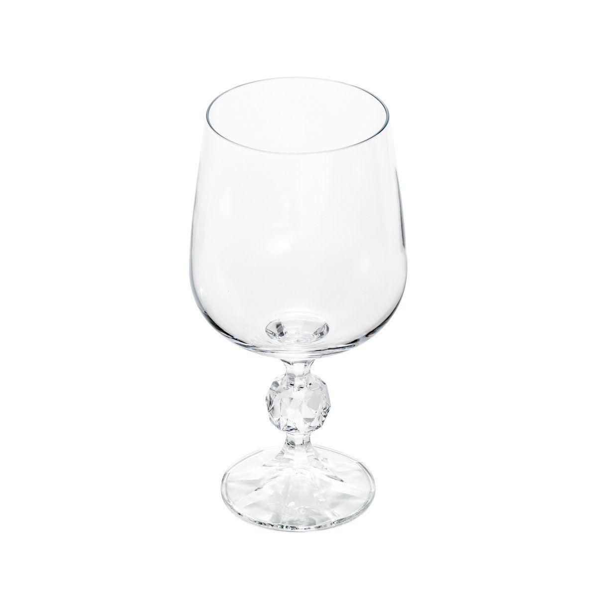 Jogo 6 taças 230ml para vinho tinto de cristal ecológico transparente Klaudie/Sterna Bohemia - 5441