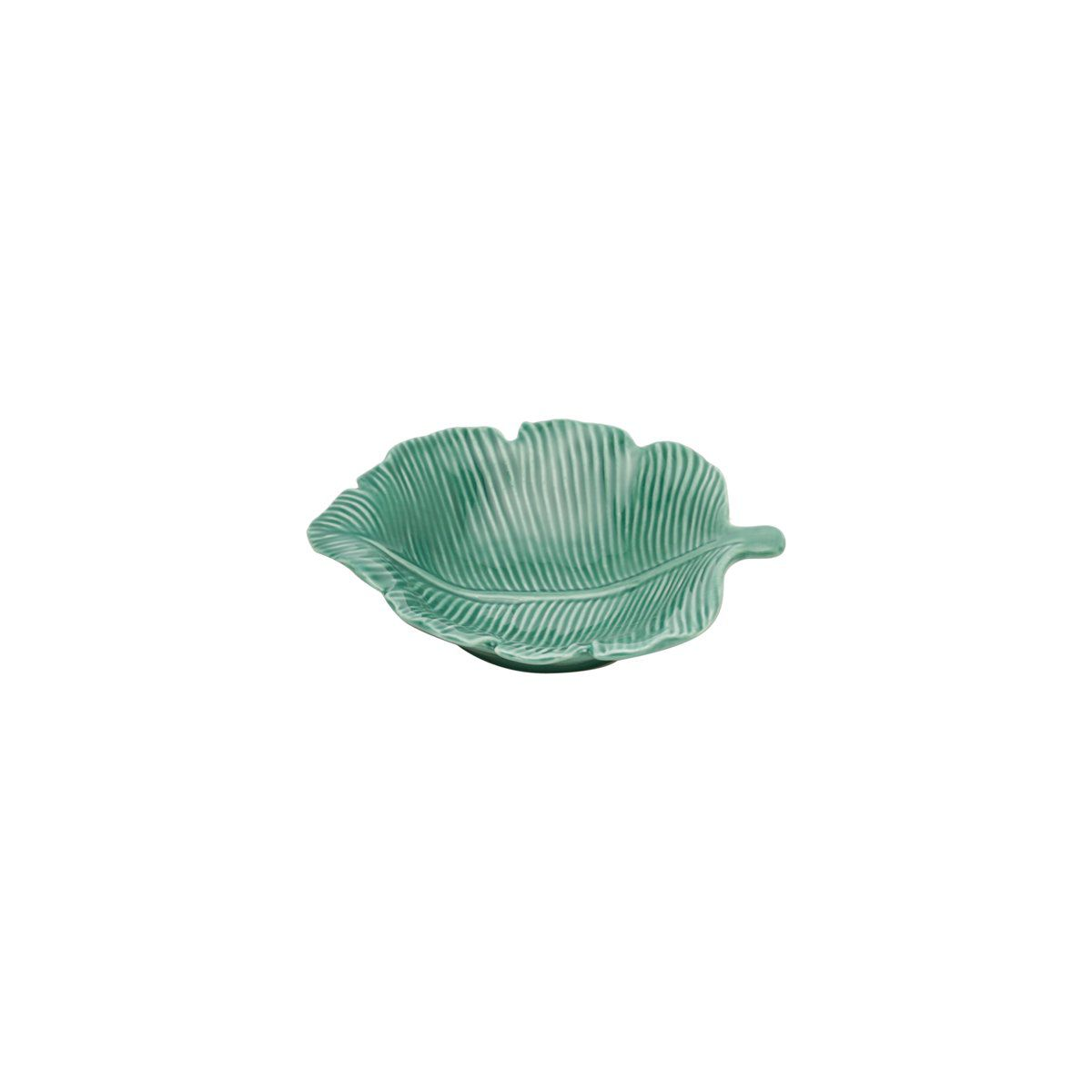 Folha decorativa 12,5 x 10 cm de porcelana verde Pachira Prestige - 26875