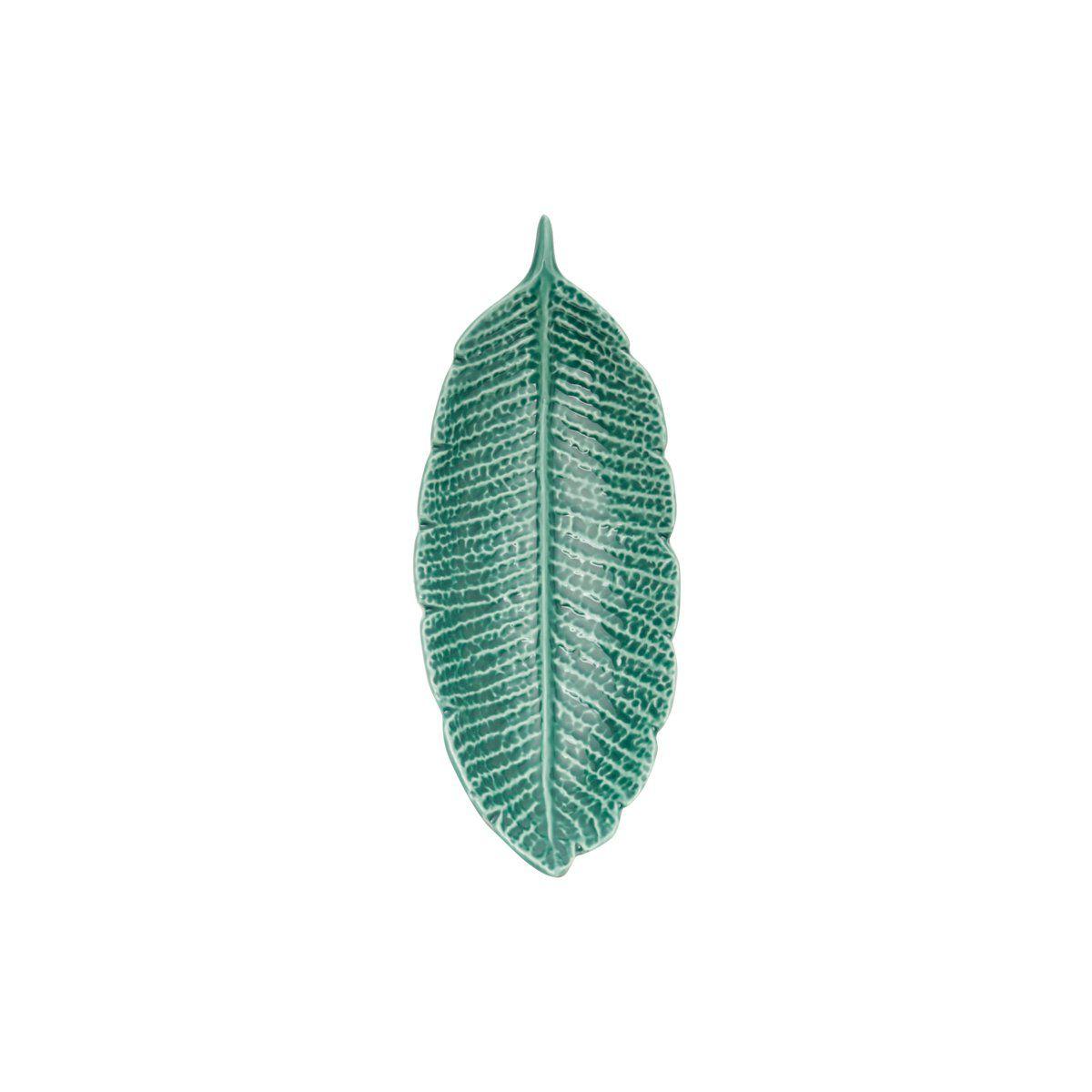 Folha decorativa 21,5 x 8,5 cm de porcelana verde Pachira Prestige - 26872